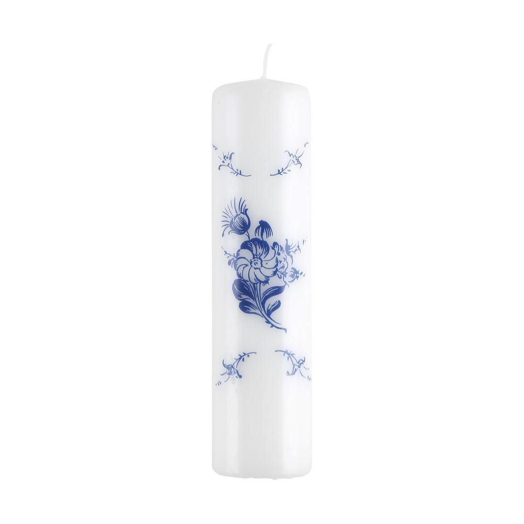 Blå Blomst Bloklys