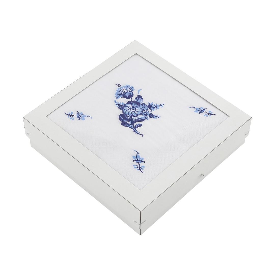 Blå Blomst Gaveæske, 40 stk.